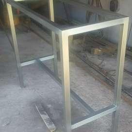 Barra hierro y madera