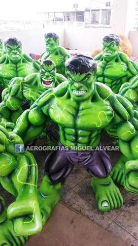 Monigote añoviejo de hulk AEROGRAFIAS MIGUEL ALVEAR