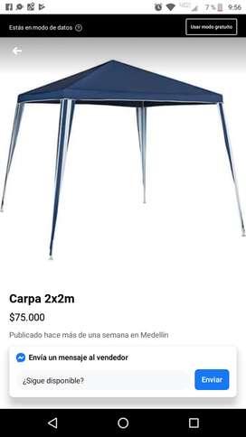Carpa 2x2 azul nueva