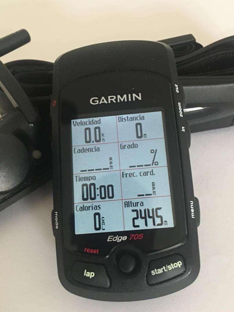 GPS GARMIN EDGE 705 CON SENSOR DE VELOCIDAD CADENCIA Y RITMO CARDÍACO 0