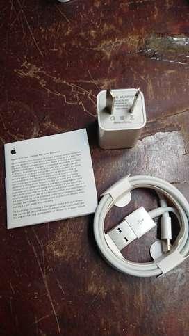 Cable y cabezal  para iphone muy buena calidad color blanco