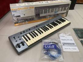 controlador midi + interface + piano, M-AUDIO KEYSTUDIO 49I