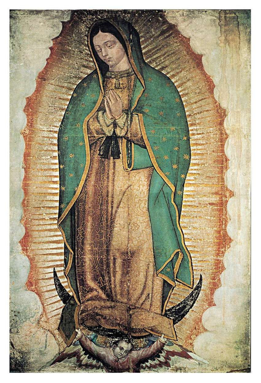Virgen de Guadalupe Guadalupana Lienzografia  Impresión Arte 0