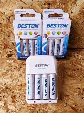 Cargador más baterías recargables AAA