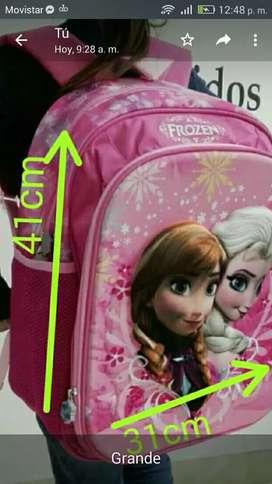 Kit con morral grande Frozen +cartuchera+lonchera
