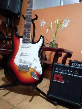 Oferta guitarra eléctrica más amplificador en $380.000