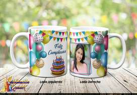 Tazas Personalizadas / Jarros Sublimados Cumpleaños