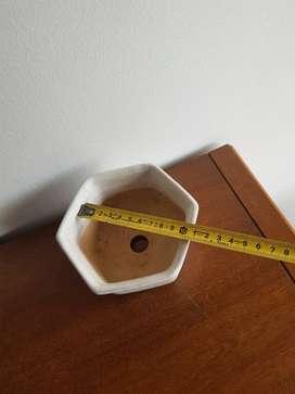 Maceta Ceramica esmaltada. Octogonal nº1. 464