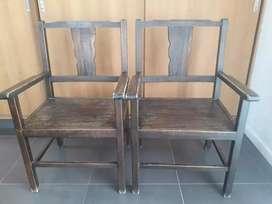 Vendo sillones cabeceros de madera de paraíso