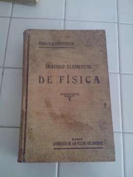 libro de Fisica antiguo  GANOT  LIBRERÍA BOURET DE PARIS año 1897 envio a toda colombia
