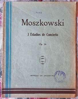 Moszkowski 3 Estudios De Concierto Op. 24 Partitura P/ Piano (Reacondicionado)