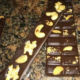 Tabletas de chocolate artesanales