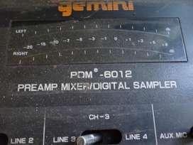 VENDO MIXER GEMINI PDM 8012 PREAMPLI MIXER DIGITAL SAMPLE
