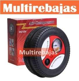 Compresor De Aire Tipo Rueda Varias Funciones 12v Portable