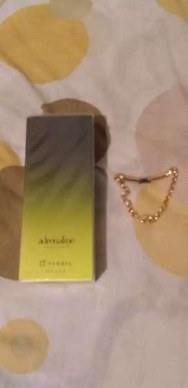 Perfume Yanbal + pulsera Yanbal bañado en oro