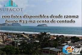 CAYO BEACH terrenos playeros a dos horas y media de guayaquilñ a 4 minutos de la playa / SD5