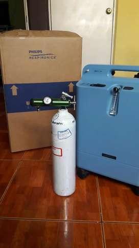 Se vende concentrador y cilindro de oxigeno