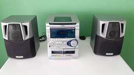 minicomponente aiwa CX NSZ20EHA  consumo 80W  radio  cassette  3 cd   1500W PMPO 50W+50W (RMS)  made in tokio
