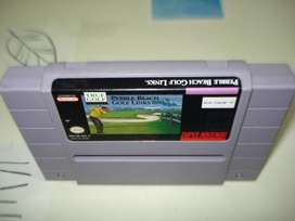 Juego Super Nintendo Pebble Beach Golf Link Sns G8 Usa 1 Jap