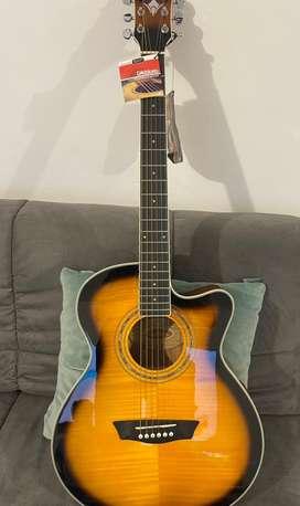 Guitarra electroacustica washburn ea15atb