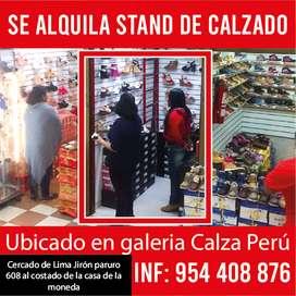 Stand de calzado en alquiler Lima