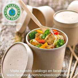 Envases biodegradables para sopas 16 y 32 oz