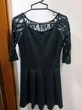 Vestido negro Bianchi talla XS le sirve a un M