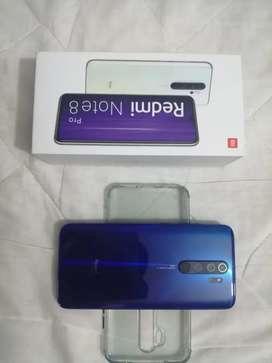 En venta o permuta hermoso redmi Note 8 pro de 6 gigas de ram y 128 internas