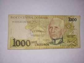Billete de 1000 cruzeiros 1990