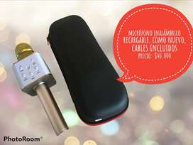 Micrófono inalámbrico recargable