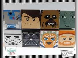 Cajas Jacinta J1 Golosinas Star Wars lego Soldado R2D2 cumpleaños evento