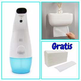 Promoción dispensador de jabón y de toallas de papel