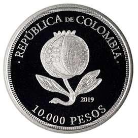 Moneda de 10 mil conmemorativa bicentenario independencia de colombia