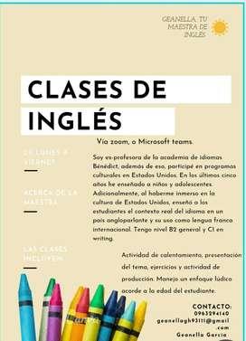 Clases de inglés personalizadas con profesora que ha vivido en el exterior.