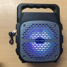 Parlante Portatil Bluetooth Karaoke Radio Fm Usb C/luces