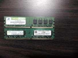 Vendo memoria ram DDR2 para PC de un 1GB