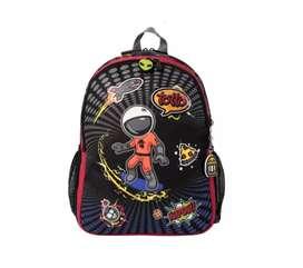 Morral marca TOTTO pequeño para niño cool patch M - Gris-9GO-Cool Patch