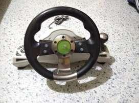 Venta de manubrio con pedales de Xbox 360 original