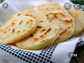 Arepas rellenas de queso