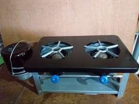 cocina dos hornallas a kerosene funcionando