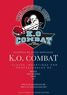 Academia de artes marciales  K.o combat