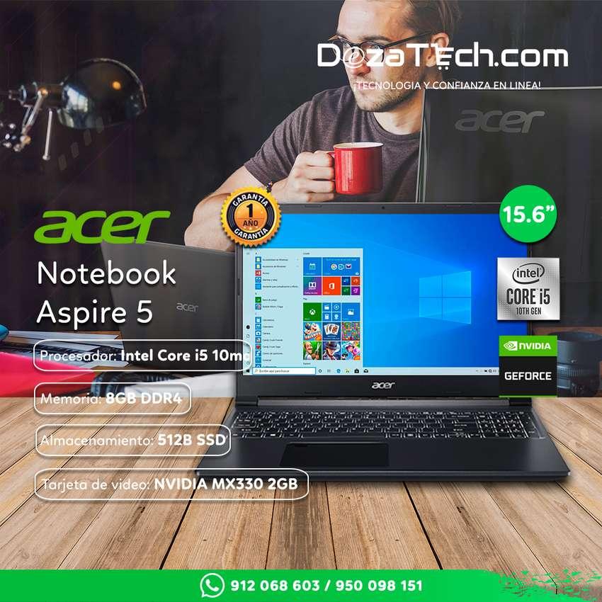 "Laptop Acer Aspire 5 15.6"" CORE I5-10GEN 512GB 8GB V2GB"