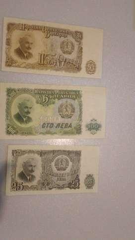 billetes antiguos de Bulgaria
