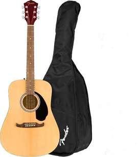 Guitarra Acustica jumbo Fender fa 125 NUEVA incluye estuche envios