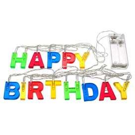 Extensión Luz Led Happy Birthday Portátil RF XWD-13