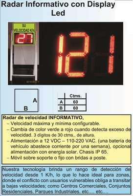 Radar Informativo solar Led