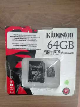 Vendo o cambio Memoria Micro Sd 64gb Clase 10 Kingston