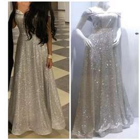 Vendo vestido de gala con una postura