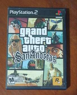 Grand theft auto San Andreas  Play Station 2