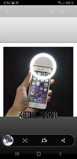 Aro de luz selfie con tres tonos de luz